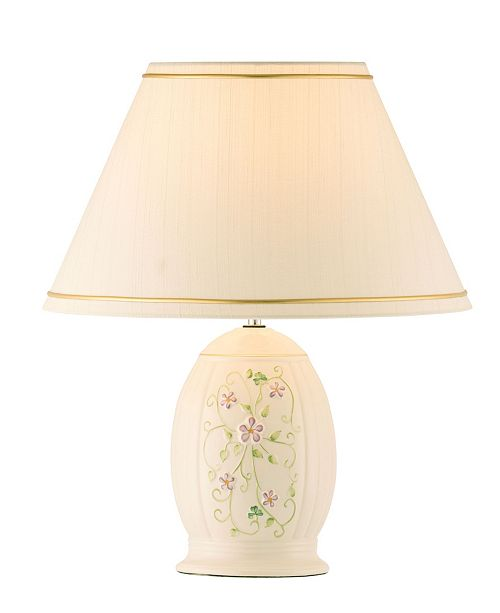 Belleek Pottery Irish Flax Lamp and Shade