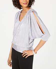 MSK Metallic Blouson Top