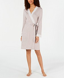 Lace-Trim Knit Robe, Created for Macy's