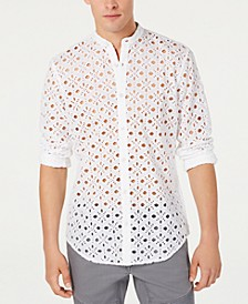 INC Men's Embroidered Eyelet Shirt, Created for Macy's