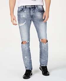 I.N.C. Men's Bleach Splatter Jeans, Created for Macy's