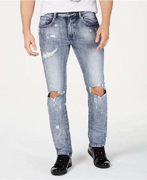 INC International Concepts INC Men's Bleach Splatter Jeans, Created for Macy's