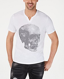 INC Men's Split Neck Skull T-Shirt, Created for Macy's
