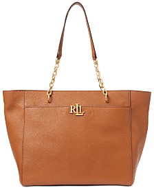 Lauren Ralph Lauren Langdon Pebbled Leather Tote