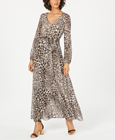 I.N.C. Animal-Print Maxi Dress, Created for Macy's