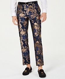 INC Men's Slim-Fit Gold Foil Leaf Pants, Created for Macy's