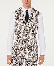 INC Men's Slim-Fit Botanical Vest, Created for Macy's