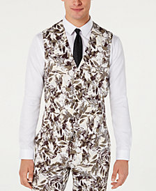 INC Men's Slim-Fit Botanical Vest, Created for Macy's