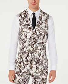 I.N.C. Men's Slim-Fit Botanical Vest, Created for Macy's