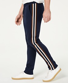 Michael Kors Men's Slim-Fit Varsity-Stripe Track Pants