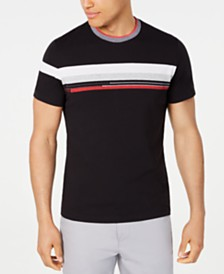 Alfani Men's Colorblocked Stripe T-Shirt, Created for Macy's