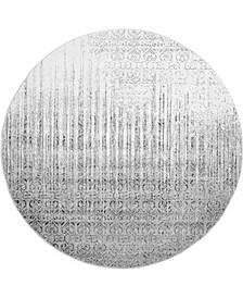 Lyon Lyo2 Gray 8' x 8' Round Area Rug