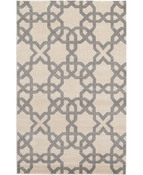 Bridgeport Home Arbor Arb5 Beige/Gray 5' x 8' Area Rug
