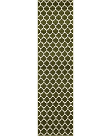 "Arbor Arb1 Dark Green 2' 7"" x 10' Runner Area Rug"