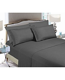 6-Piece Luxury Soft Solid Bed Sheet Set Full