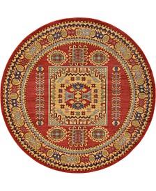 Bridgeport Home Harik Har6 Red 6' x 6' Round Area Rug