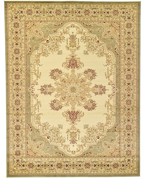 Bridgeport Home Belvoir Blv1 Ivory/Green 9' x 12' Area Rug