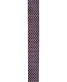 "Arbor Arb1 Purple 2' 7"" x 19' 8"" Runner Area Rug"