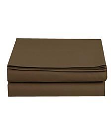 Silky Soft Single Flat Set California King Brown