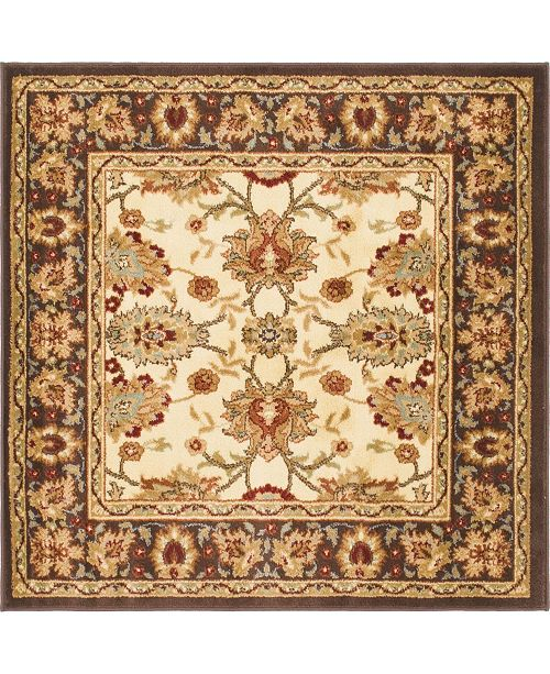 Bridgeport Home Passage Psg3 Ivory 4' x 4' Square Area Rug