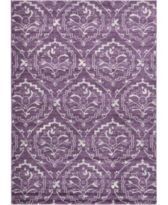 Felipe Fel1 Purple 7' x 10' Area Rug