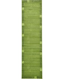"Bridgeport Home Lyon Lyo1 Green 2' 7"" x 10' Runner Area Rug"