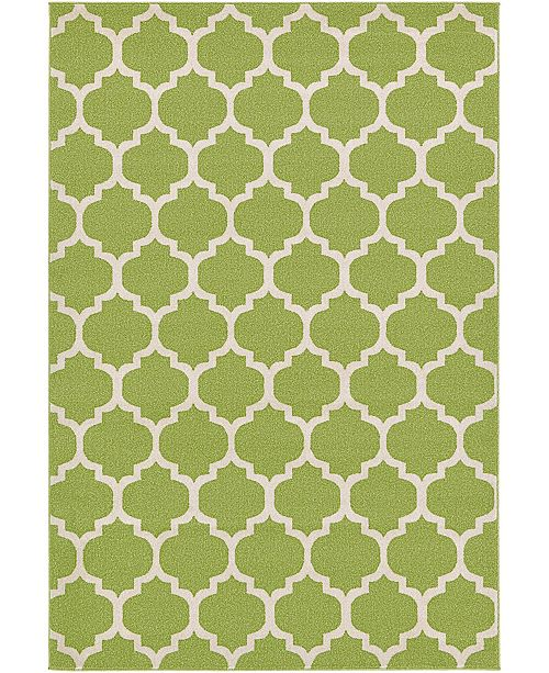 Bridgeport Home Arbor Arb1 Light Green 6' x 9' Area Rug