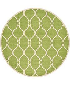 Arbor Arb6 Green 8' x 8' Round Area Rug