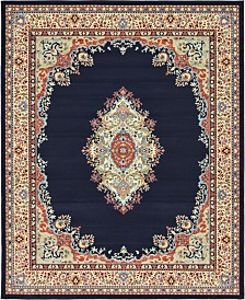 Bridgeport Home Birsu Bir1 Navy Blue 8' x 10' Area Rug