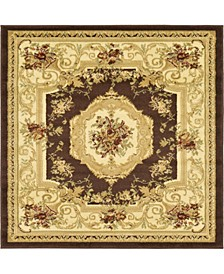 Belvoir Blv3 Brown 4' x 4' Square Area Rug