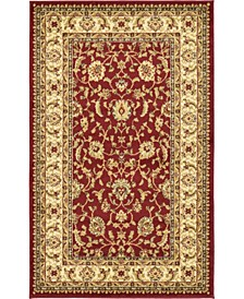 "Passage Psg4 Red 3' 3"" x 5' 3"" Area Rug"