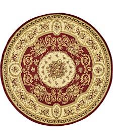 Belvoir Blv4 Red 6' x 6' Round Area Rug