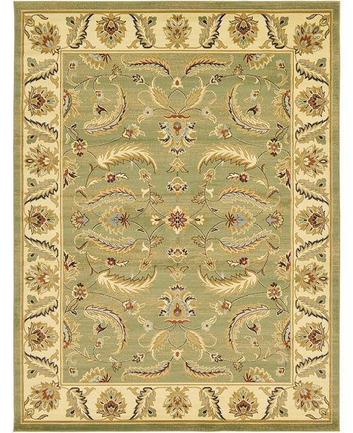 Bridgeport Home Passage Psg1 Green 9' x 12' Area Rug