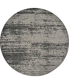 Lyon Lyo3 Dark Gray 6' x 6' Round Area Rug