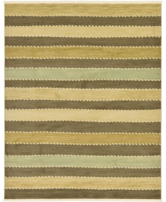 Ojas Oja1 Brown 8' x 8' Square Area Rug