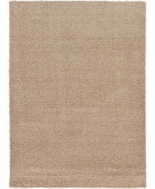 Bridgeport Home Exact Shag Exs1 Taupe 7' x 10' Area Rug