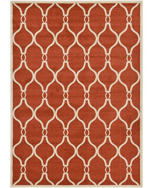 Bridgeport Home Arbor Arb6 Terracotta 7' x 10' Area Rug