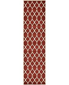"Arbor Arb6 Red 2' 7"" x 10' Runner Area Rug"