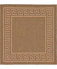 Pashio Pas6 Brown 6' x 6' Square Area Rug