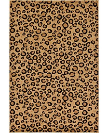 Maasai Mss2 Light Brown 7' x 10' Area Rug
