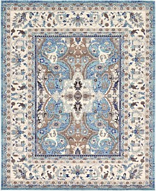 Bridgeport Home Wisdom Wis2 Light Blue 8' x 10' Area Rug