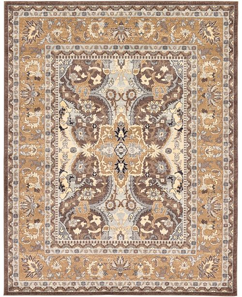 Bridgeport Home Wisdom Wis2 Brown 8' x 10' Area Rug