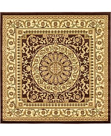 Belvoir Blv2 Brown 6' x 6' Square Area Rug