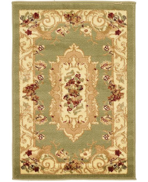 "Bridgeport Home Belvoir Blv3 Green 2' 2"" x 3' Area Rug"