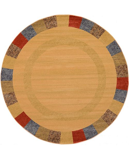 Bridgeport Home Ojas Oja5 Beige 8' x 8' Round Area Rug