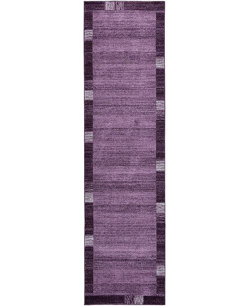 "Bridgeport Home Lyon Lyo1 Purple 2' 7"" x 10' Runner Area Rug"