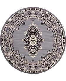 Birsu Bir1 Gray 8' x 8' Round Area Rug