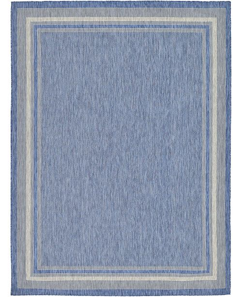 Bridgeport Home Pashio Pas5 Blue 9' x 12' Area Rug