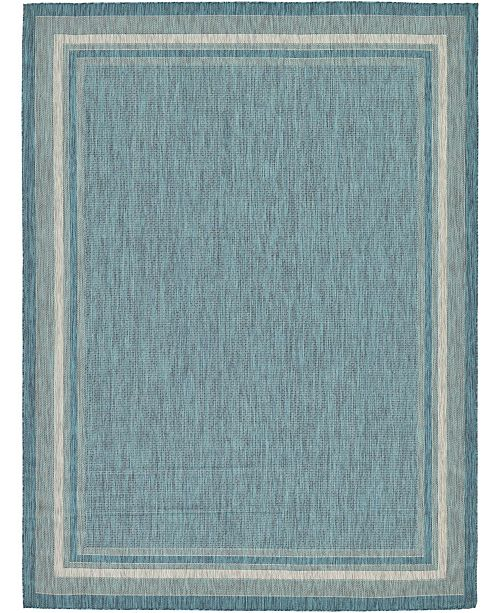 Bridgeport Home Pashio Pas5 Teal 9' x 12' Area Rug