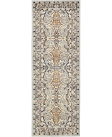 "Wisdom Wis2 Silver 2' 2"" x 6' Runner Area Rug"